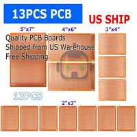 13pc DIY Prototyping Board PCB Printed Circuit Prototype Breadboard Stripboard