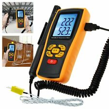 K-type Thermocouple Digital Humidity and Temperature Thermometer Meter 14~122°F
