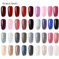NICOLE DIARY 3 in 1 Soak Off UV Gel Polish One Step Glitter Nail Art Varnish