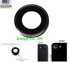 Rear Back Camera Lens Glass + Ring Holder Replacement For iPhone 7 4.7""