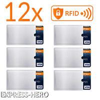 12x RFID Schutzhülle Blocker NFC Datenschutz Abschirm EC Karte Kreditkarte Hülle