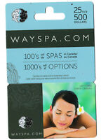 gift card WAYSPA collectible Canada Spa girl relaxation