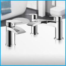 New Modern Chrome Waterfall Bath Filler Mixer Tap Bathroom Round Cascade