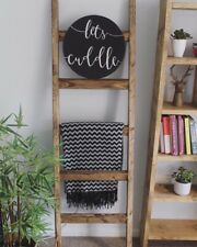 Rustic Wooden Blanket Ladder | Farmhouse | Reclaimed Wood