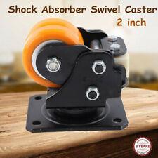 New Listing2 Agvrobot Swivel Plate Caster Wheel Heavy Duty Shock Absorber Driven Wheels