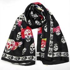 Head Scarves And Wrap Oversize Beach Shawl Printed Skull Hijab Luxury Cape Towel