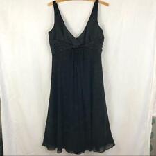 Jones Wear Satin & Chiffon Basic Black Dress Size 10