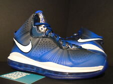 2011 Nike Air Max LEBRON VIII 8 V/2 ALL-STAR TREASURE BLUE WHITE BLACK NEW