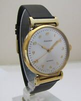 HEBDOMAS AUTOMATIC 0.925 silver 20M gold plated. NOS swiss made
