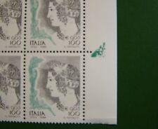 1998  Italia Donna Nell'Arte   quartina con  Macchia Verde   100 lire   MNH**