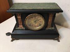 Antique Seth Thomas Adamantine Mantle Clock Egyptian Revival