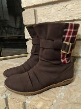 Patagonia Womens 8 Espresso Plaid Winter Ankle Boots