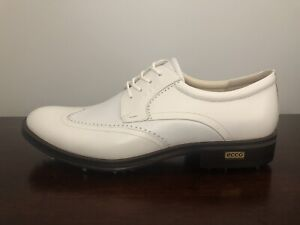 ECCO New World Class White Golf Shoes Spikes Mens Size 11-11.5 (EU 45) MSRP $450