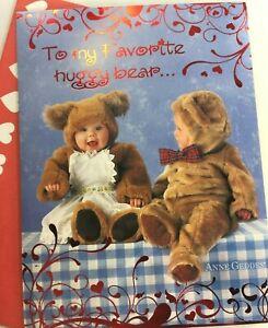 "Anne Geddes VALENTINE'S DAY CARD by LEANIN' TREE, 2015, ""huggy bear..."""