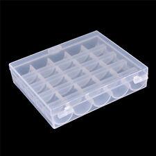 25 Zellen leer Spulen Box Nähmaschine Spulenkapsel Organizer Aufbewahrung