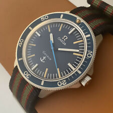 Omega Admiralty Vintage Diver Nautical Stainless Steel Swiss Watch Ref. 135.042