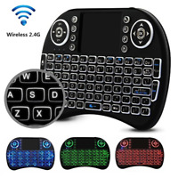 Wireless Gaming Keyboard Backlit LED Mini and Built-In Mouse 2-in-1 Combo for PC