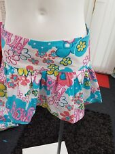 "Ladies BNWOT ""Zoe"" White Floral Pattern Beach 100% Cotton Skirt (Size 6)"