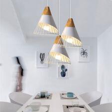 3X Kitchen Pendant Lighting Bedroom Pendant Light White Lamp Wood Ceiling Lights