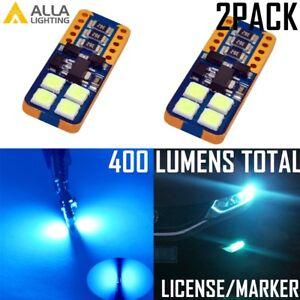 Alla Lighting LED License Plate Light Tag Bulb/Side Marker/Trunk Lamp,Light Blue