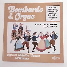"""33T JC JEGAT Louis YHUEL Vinyle LP 12"""" BOMBARDE ORGUE Danses Bretagne ARFOLK 306"""