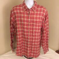 International Harvester McCormick Farmall XL Flannel Shirt Red White Plaid FS!