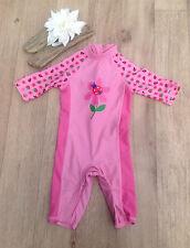 Mothercare UV-Sun Suit Swimwear (0-24 Months) for Girls