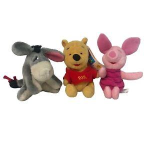 Vintage Mattel Disney 1997 Winnie the Pooh Piglet Eeyore Plush Set Mini Stuffed