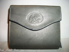 The Minimizer By Buxton New Genuine Leather Accordian Zip French Purse Gray