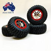 Traxxas Slash 4x4 6872A Split Spoke Chrome Wheels & BF Goodrich Km2 Tyres 1/10