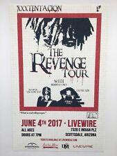 """XXXTENTACION 11x17 Tour Music Poster The Revenge Tour """"Arizona 2017"""""""
