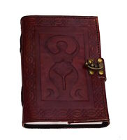 Mother Earth Goddess leather journal diary notebook sketchbook Handmade India