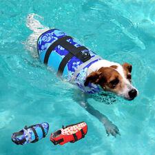 Dog Life Jacket Floatation AID Adjustable Pet Safety Vest Swimming Preserver SML