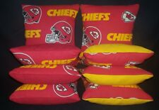 ALL WEATHER Kansas City CHIEFS Set Of 8 Corn Hole Bean Bags FREE SHIPPING!!!
