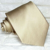 Luxus Krawatte beige metallic Seide TRE marke Italien klassisch UVP € 38