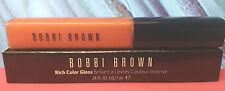 Bobbi Brown Rich Color Lip Gloss Clor Intense Melon #2 Full Size New In Box str