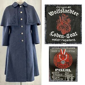 Original Wolfstaedter Loden Coat with Removable Cape Women's US 8 - 10 VINTAGE
