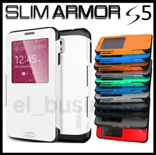Funda para Samsung Galaxy S5 con Tapa y Ventana Flip Cover Slim Armor Carcasa