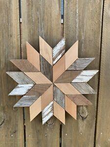 Barn Wood Star Quilt Wall Hang Rustic Reclaimed Home Decor Farm Art Farmhouse