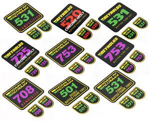 REYNOLDS Tubing 501 520 525 531 708 725 753 Decals Sticker Aufkleber 3teilig