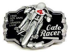 Biker Belt Buckle 3D Motorcycle Cafe Racer Framed Bike Authentic Dragon Designs