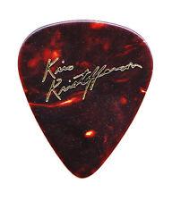 Kris Kristofferson Signature Brown Faux Tortoise Guitar Pick - 1980s/1990s Tours