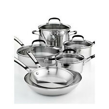 Calphalon Cookware Set Stainless Steel 10 Piece Induction Ceramic Glass Top Chef