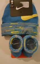Nike Air Girls or Boys Infant Hat & Booties  Set Size 0 - 6 Months