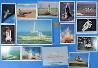 POSTCARD / PHOTO print LOT of 13 '80s vtg NASA Space Shuttle Challenger Lift Off