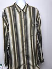 Tommy Bahama Men's Sz 3XT Cool Color Striped Button Down Long Sleeve Shirt