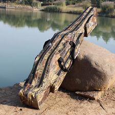 Soft Folding Fishing Rod Bag Fishing Tackle Reel Case Storage Fishing Bag 4.25ft
