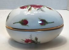 Hammersley Grandmothers Rose Bone China Egg Trinket Box Made England Spode Group