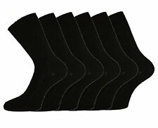 6 Pares Negro Lycra Socks-Ladies Calcetines de Niña Socks-Boys Sock-School