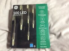 GE Energy Smart 100-Count Constant White Mini LED Plug-In Christmas Icicle Light